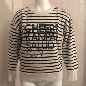 J. Crew Cheers Striped Sweater Sweatshirt